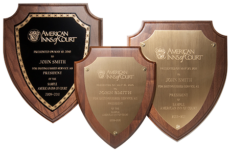 plaques and membership certificates